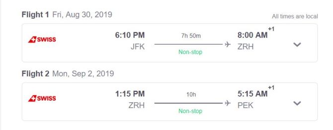 Swiss Early Friday Departure Option